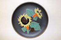 Fifties ceramics wall plate - Ruscha - Sunflowers
