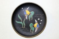Fifties ceramics wall plate from Germany - fish - Ruscha