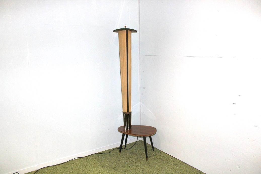 Lamp Met Tafeltje.Prachtige Fifties Staande Lamp Met Tafeltje The Boomerang
